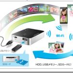 iPhoneなどモバイルバッテリーとしても使用できる!Wi-Fiストレージリーダー「ポケドラ」(WFS-SR02)