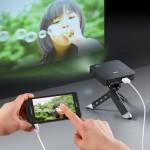 iPhoneなどスマートフォンと接続可能なモバイルプロジェクター