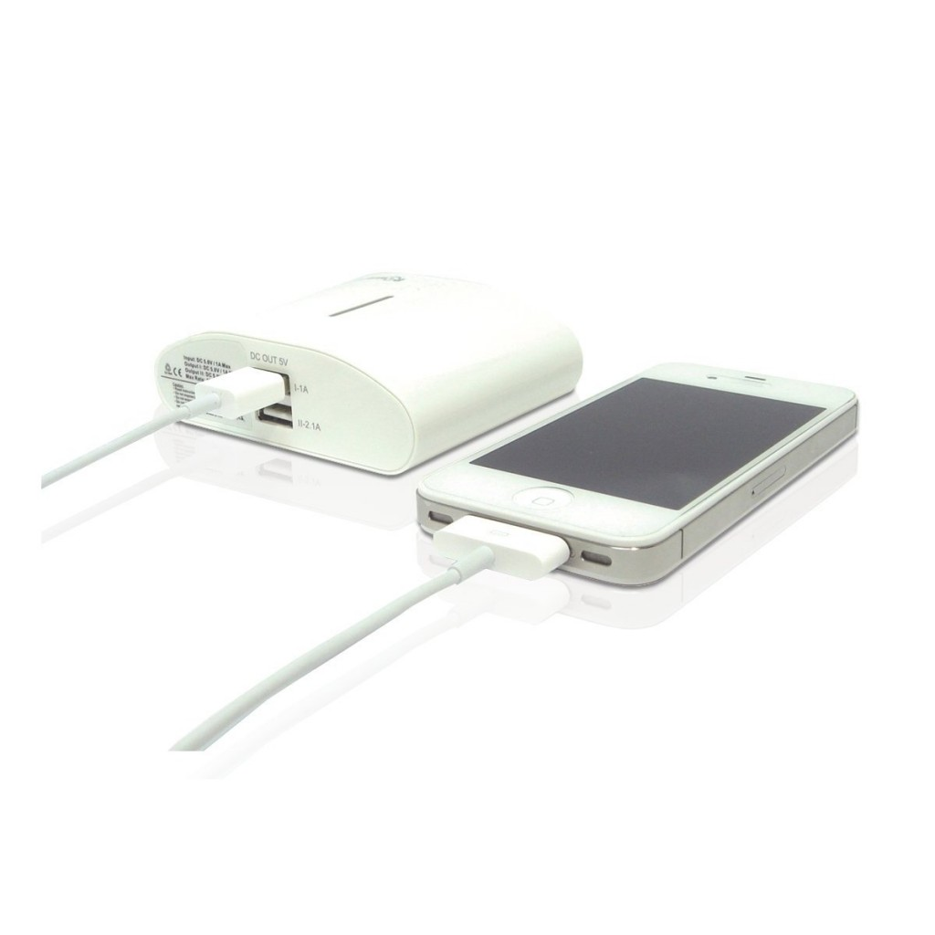 iPhone 4Sを5回満充電ができる大容量+軽量!iPhone、ipad、スマートフォン用アイテム