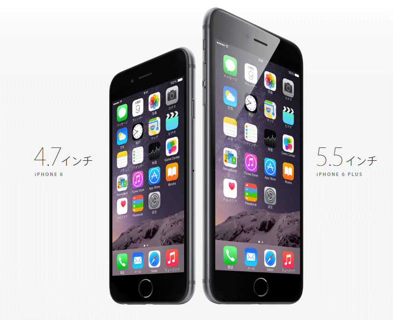 iPhone6とiPhone6-plus