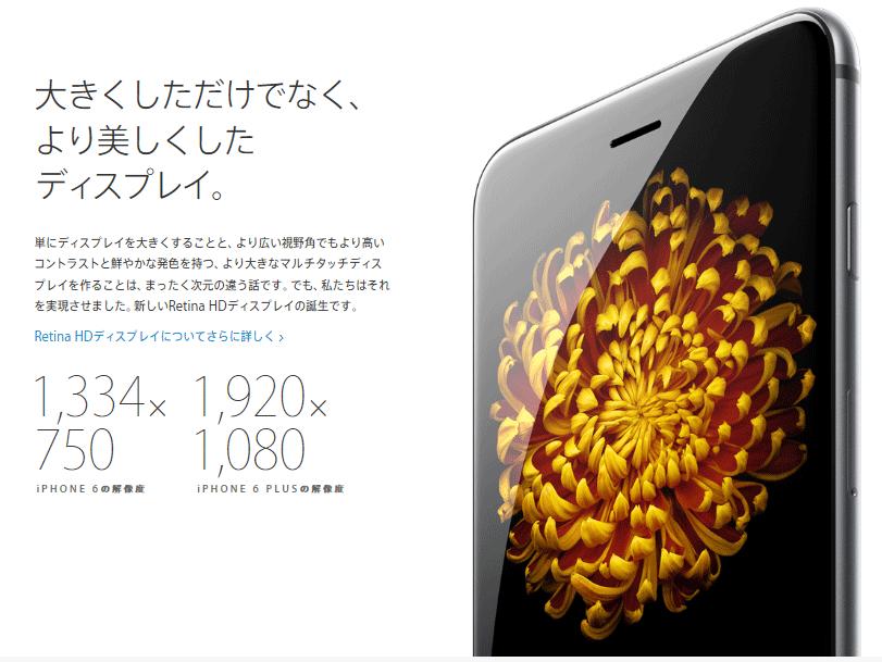 iphone6はより美しくしたディスプレイ